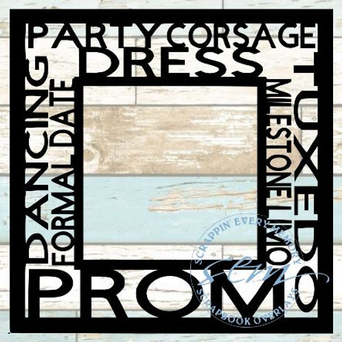 Prom Tag Text Scrapbook Overlay