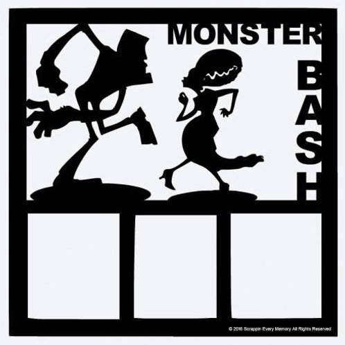 Monster Bash Scrapbook Overlay