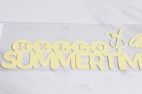 Hello Summertime Scrapbook Deluxe Die Cut