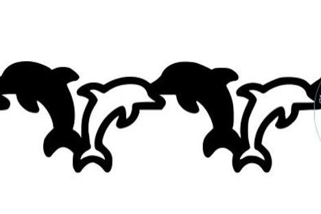 Dolphins Scrapbook Border