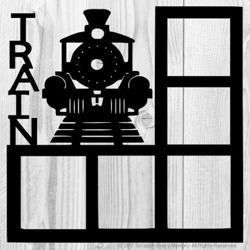 Train Scrapbook Overlay