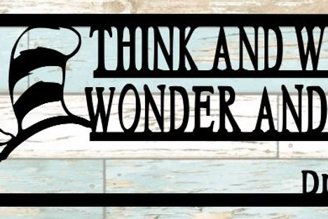 Think And Wonder Scrapbook Title
