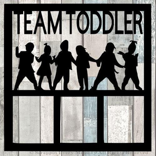 Team Toddler Scrapbook Overlay