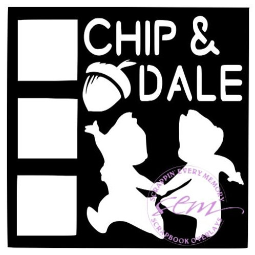 Chip and Dale Scrapbook Overlay