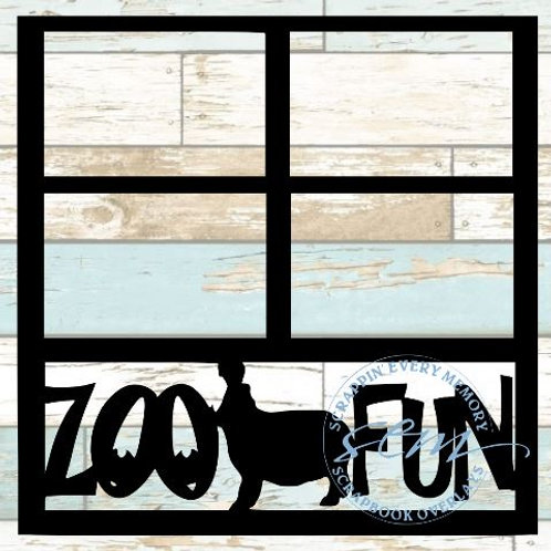 Zoo Fun Scrapbook Overlay