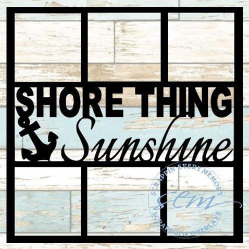 Shore Thing Sunshine Scrapbook Overlay