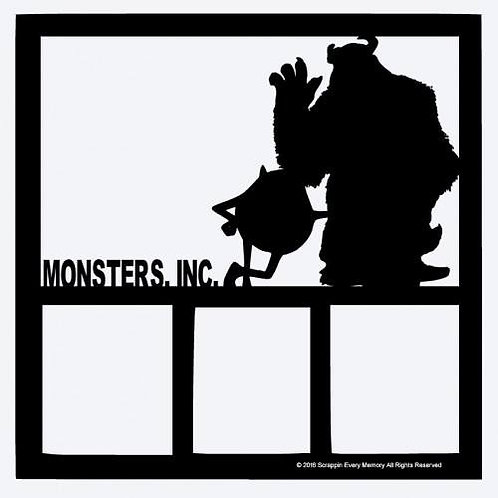 Monsters Inc Scrapbook Overlay