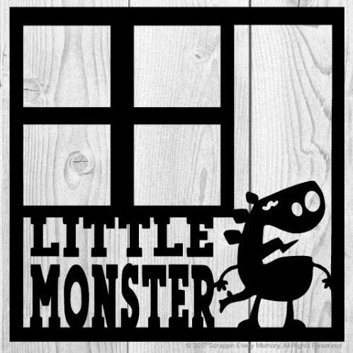 Little Monster Scrapbook Overlay
