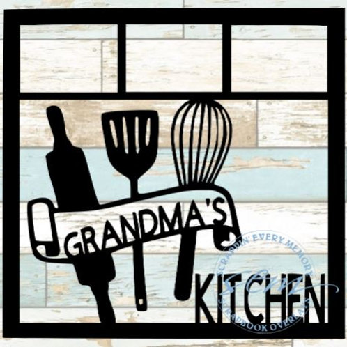Grandma's Kitchen Scrapbook Overlay