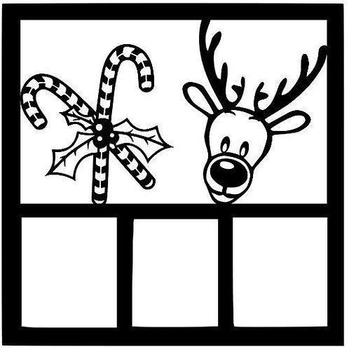 Reindeer Scrapbook Overlay