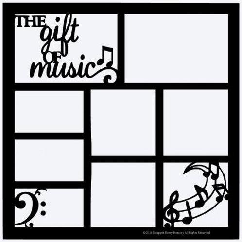The Gift Of Music Scrapbook Overlay