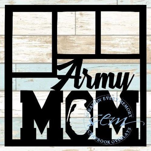 Army Mom Scrapbook Overlay