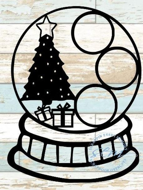 Christmas Globe Scrapbook Overlay