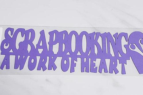 Scrapbooking A Work Of Heart Scrapbook Deluxe Die Cut