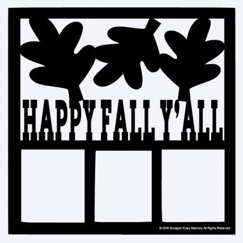 Happy Fall Y'all Scrapbook Overlay