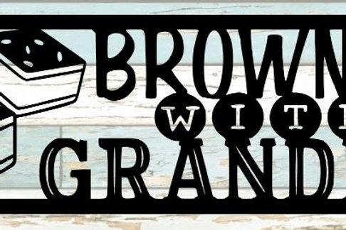 Brownies With Grandma Scrapbook Title