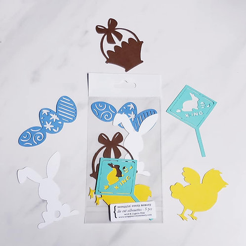 Easter Die Cut Silhouette Mini Set