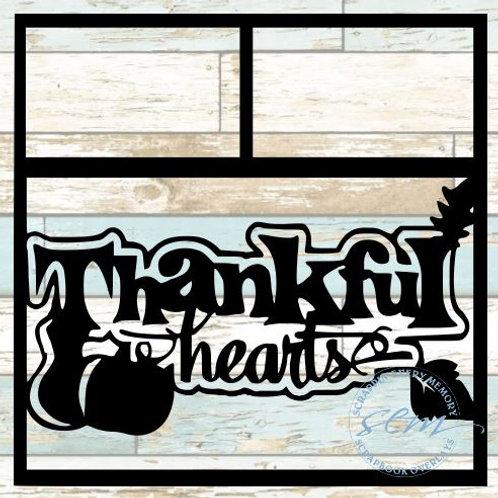 Thankful Hearts Scrapbook Overlay