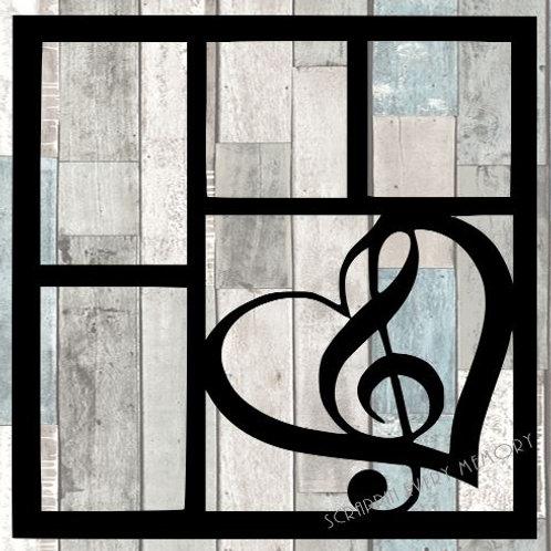 Music Heart Scrapbook Overlay