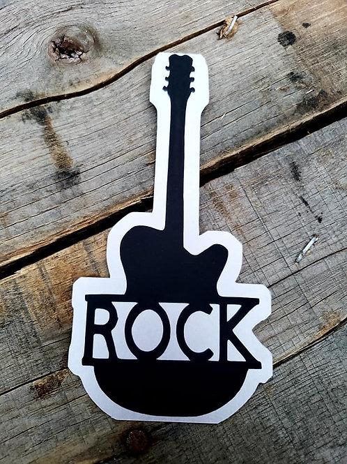 Rock Guitar Paper Piecing Die Cut