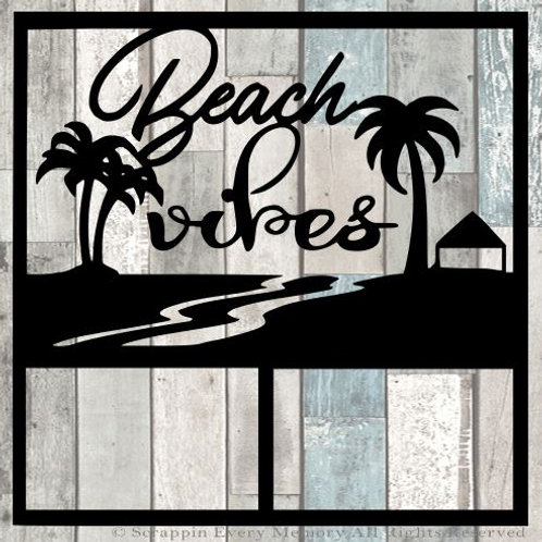 Beach Vibes Scrapbook Overlay
