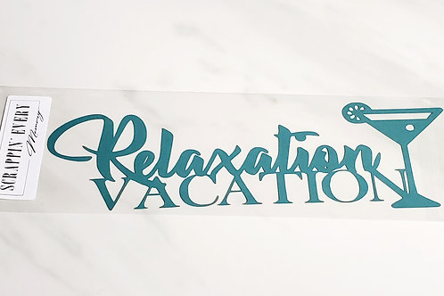 Relaxation Vacation Scrapbook Deluxe Die Cut