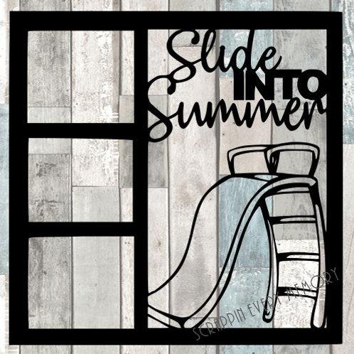 Slide Into Summer Scrapbook Overlay