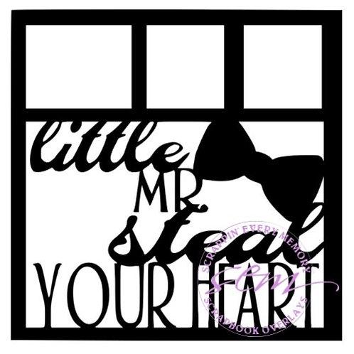 Little Mr. Steal Your Heart Scrapbook Overlay