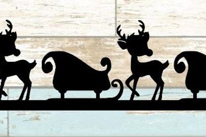 Sleigh & Reindeer Scrapbook Border