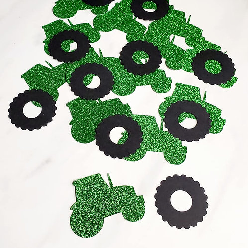 Tractors and Tractor Tires Scrapbook Page Confetti