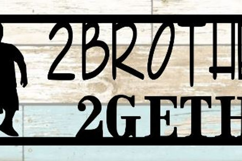 2 Brothers 2 Gether Scrapbook Title