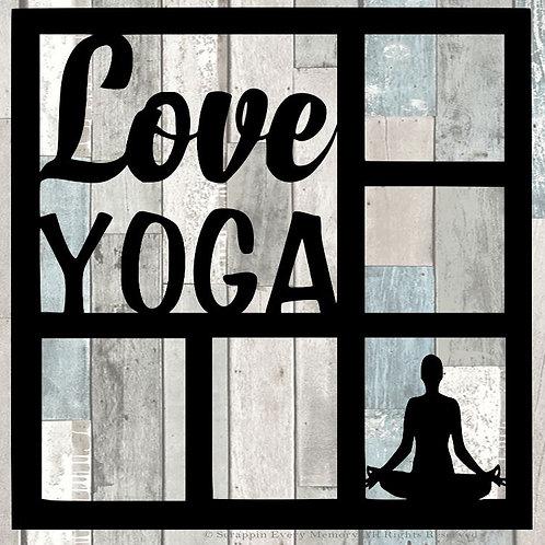 Love Yoga Scrapbook Overlay
