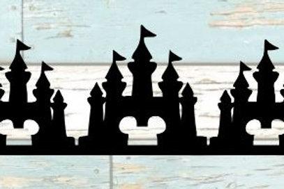 Mickey Castle Scrapbook Border