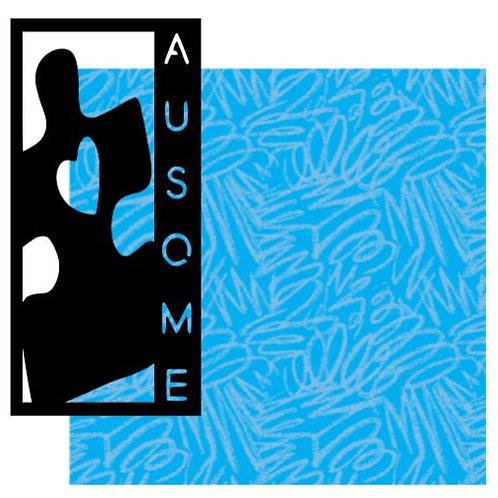 Autism Vertical Scrapbook Title