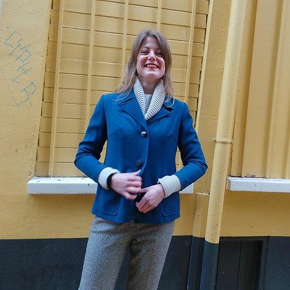 Kobaltblauw jasje original sixties XS / S