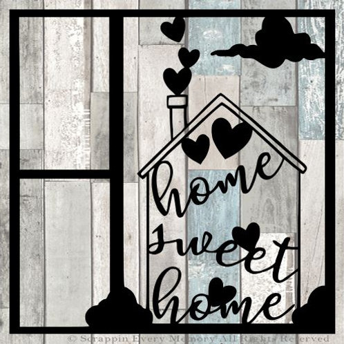 Home Sweet Home Scrapbook Overlay