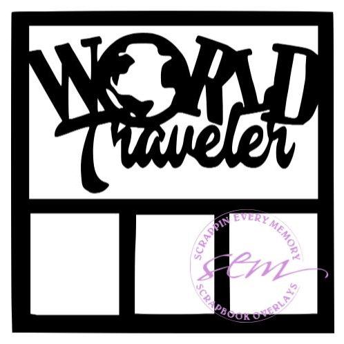 World Traveler Scrapbook Overlay