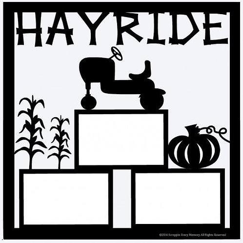 Hayride Scrapbook Overlay