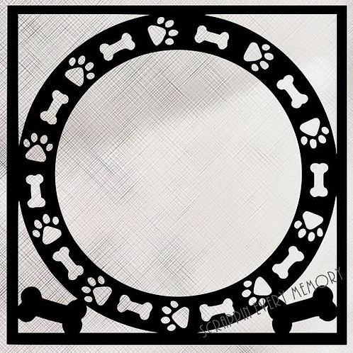 Dog Paws & Bones Scrapbook Overlay