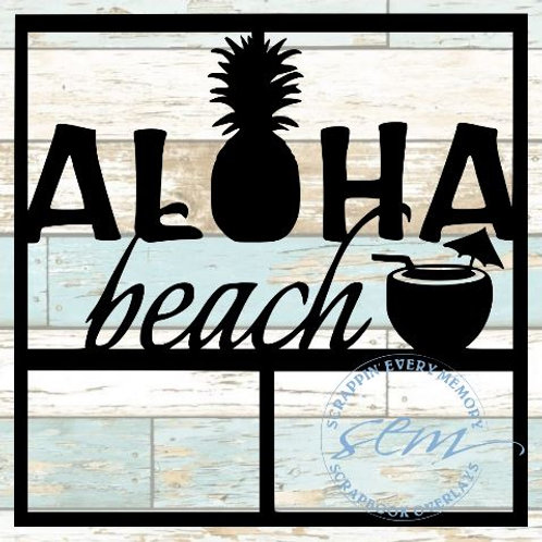 Aloha Beach Scrapbook Overlay