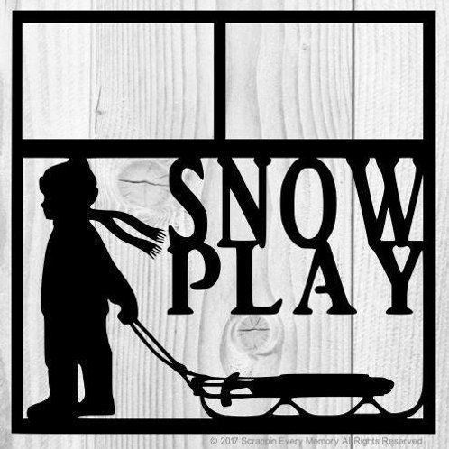 Snow Play Scrapbook Overlay