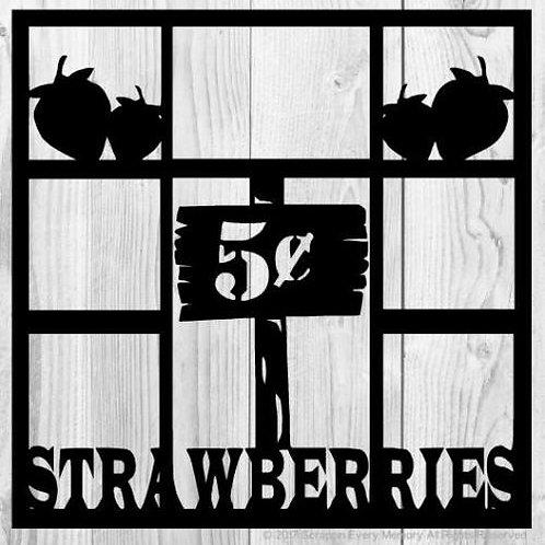 Strawberries Scrapbook Overlay