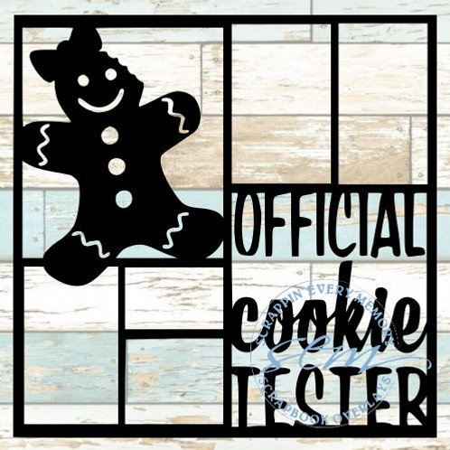 Official Cookie Tester Girl Scrapbook Overlay