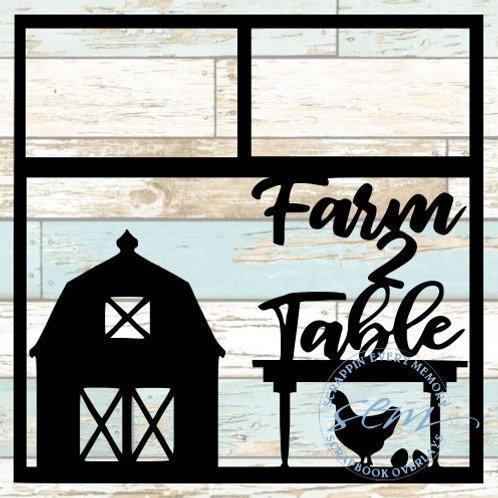 Farm 2 Table Scrapbook Overlay