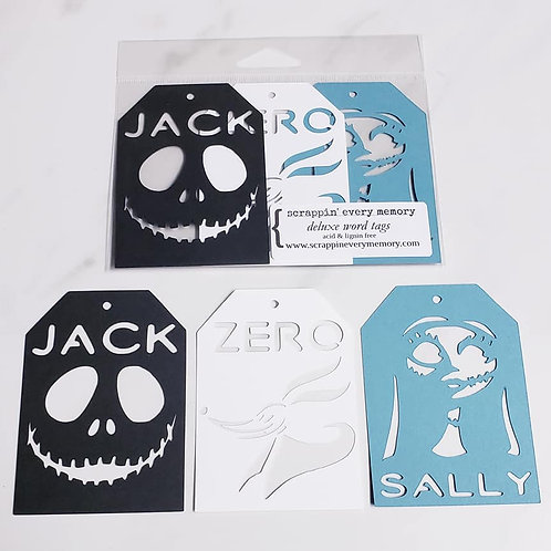 Nightmare Before Christmas Deluxe Word Tags
