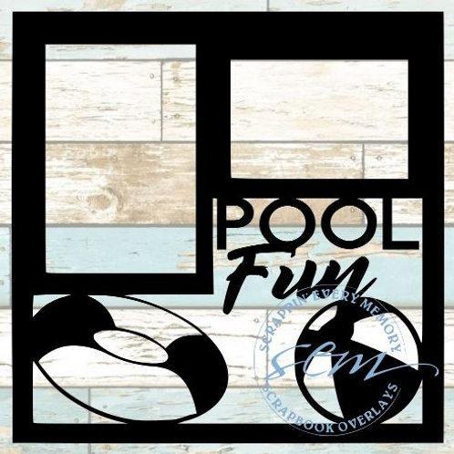 Pool Fun Scrapbook Overlay