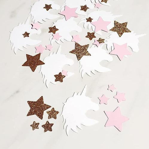 Unicorn Scrapbook Page Confetti