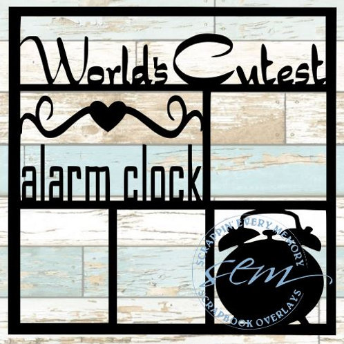 World's Cutest Alarm Clock Scrapbook Overlay
