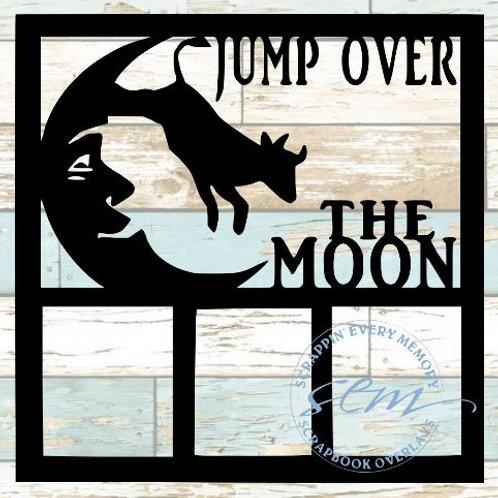 Jump Over The Moon Scrapbook Overlay