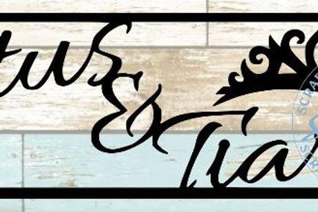 Tutus & Tiaras Scrapbook Title